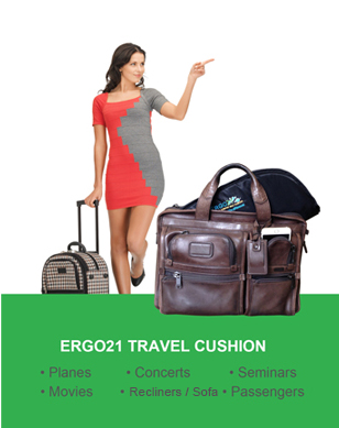 ergo 21 travel cushion for plane better than gel