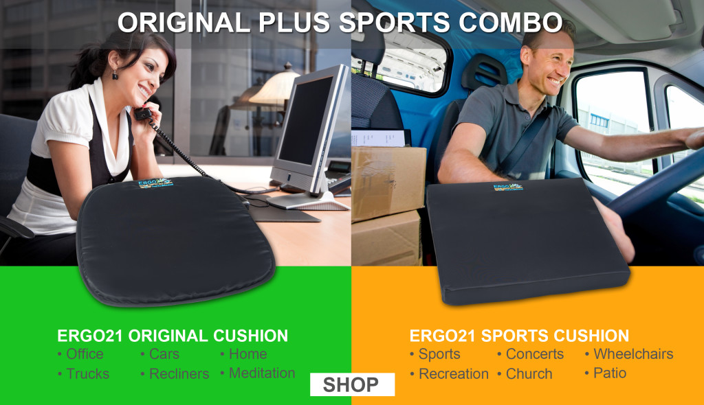 Ergo 21 Sports Cushion better than gel seat cushion or foam