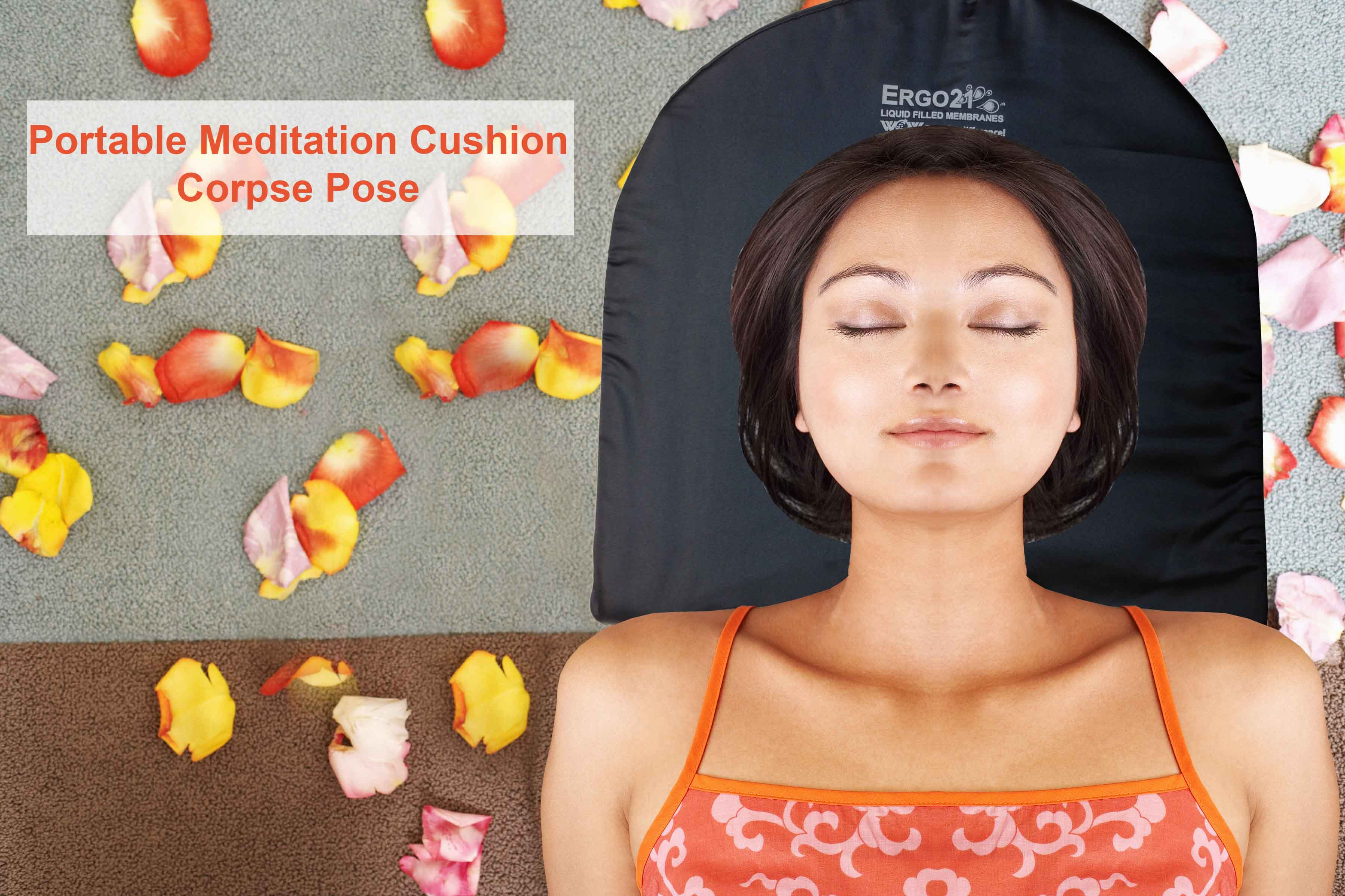 Meditation Cushion Small girl lying